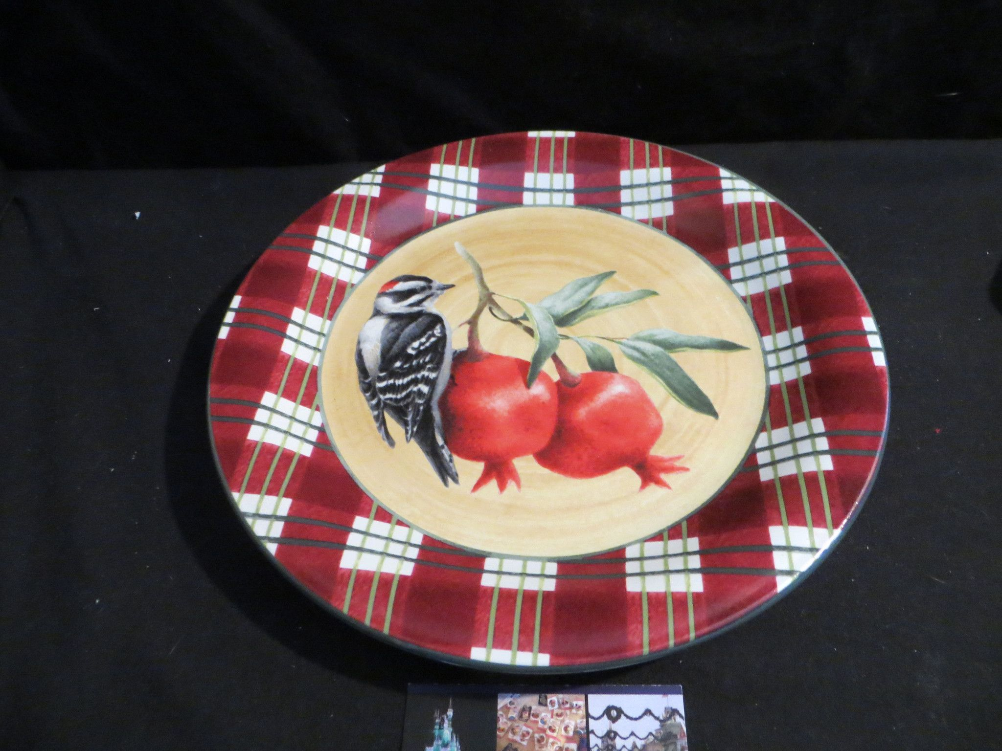 Lenox winter greeting everyday tartan downey woodpecker 10 12 lenox winter greeting everyday tartan downey woodpecker 10 12 salad plate kristyandbryce Choice Image