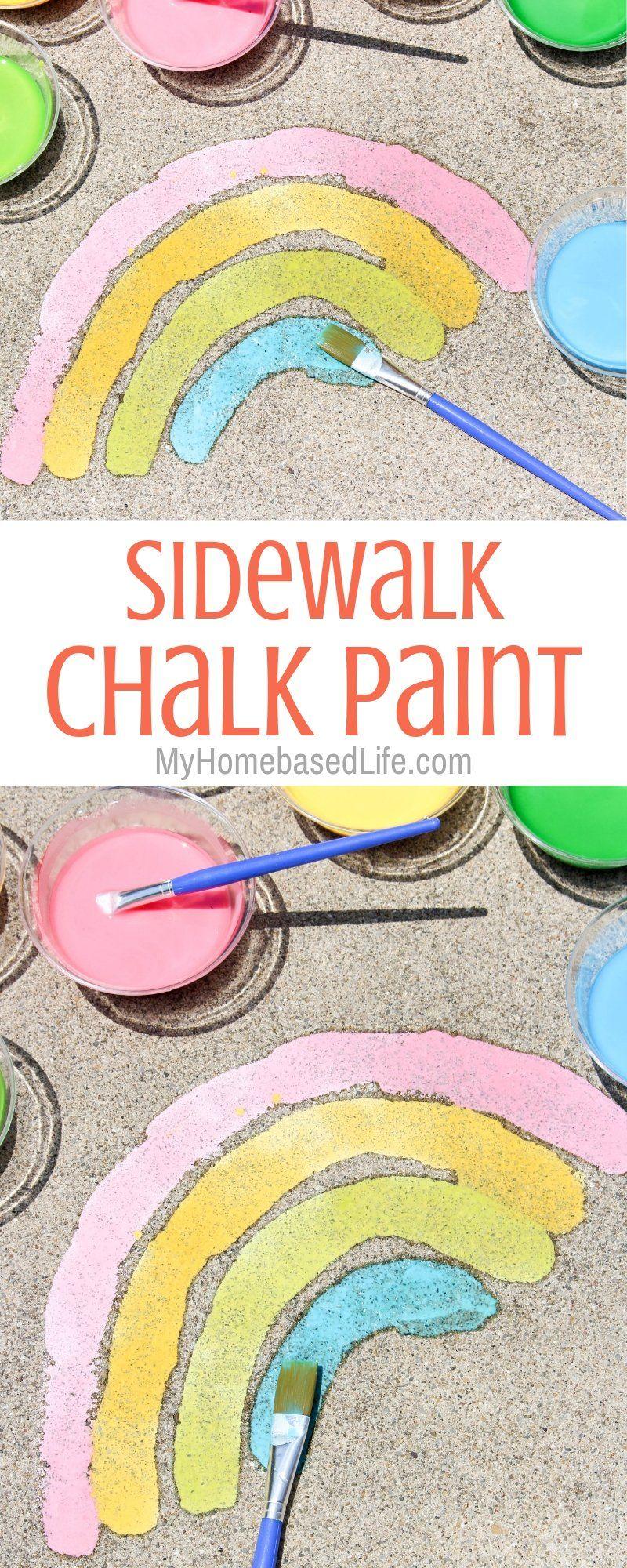 Summer Sidewalk Chalk Paint | My Home Based Life #summerfunideasforkids