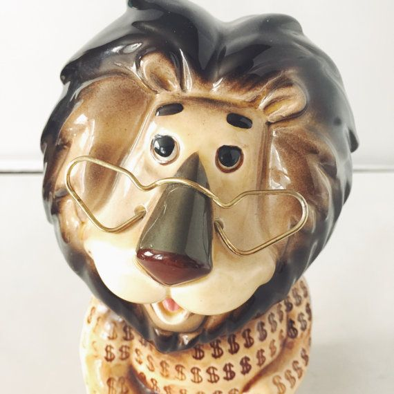 Vintage Lefton Chicago Harris Bank Mascot by junkindatrunkgirls