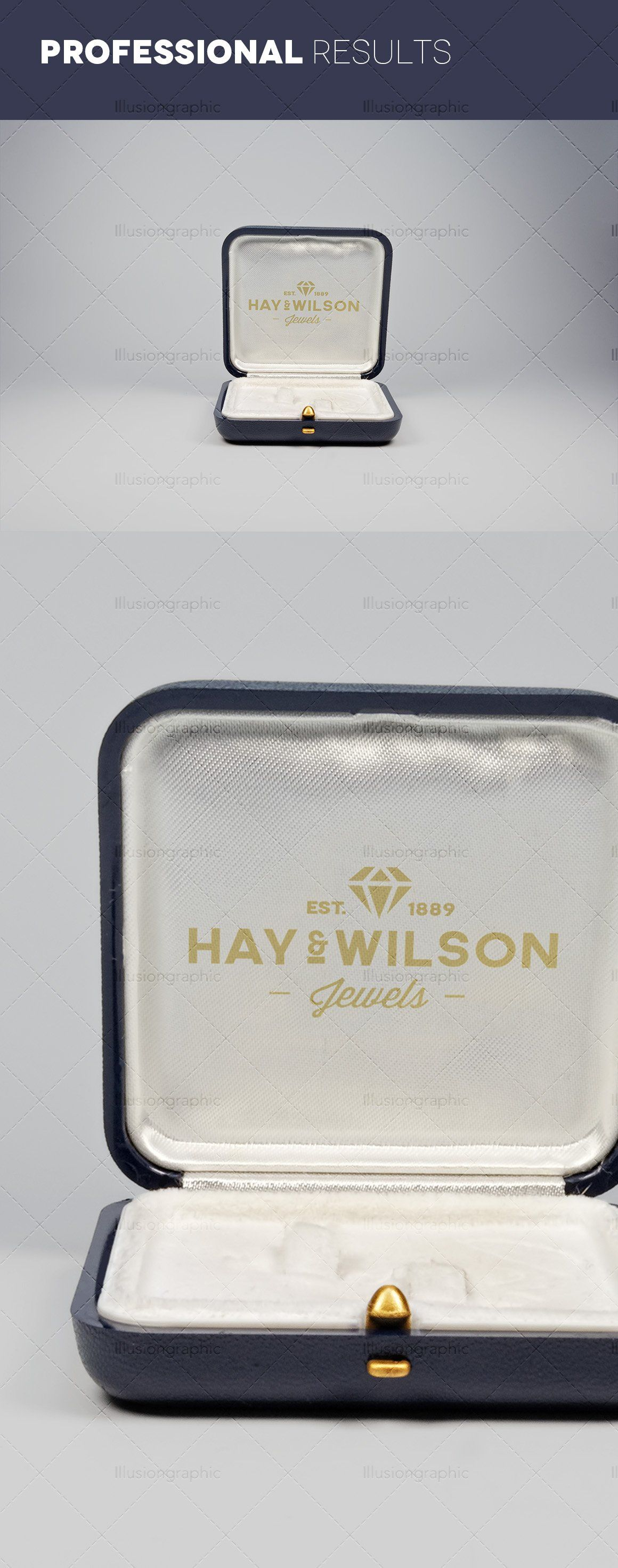 Download Logo On Jewelry Box Mockups V 2 Box Mockup Mockup Freelance Graphic Design