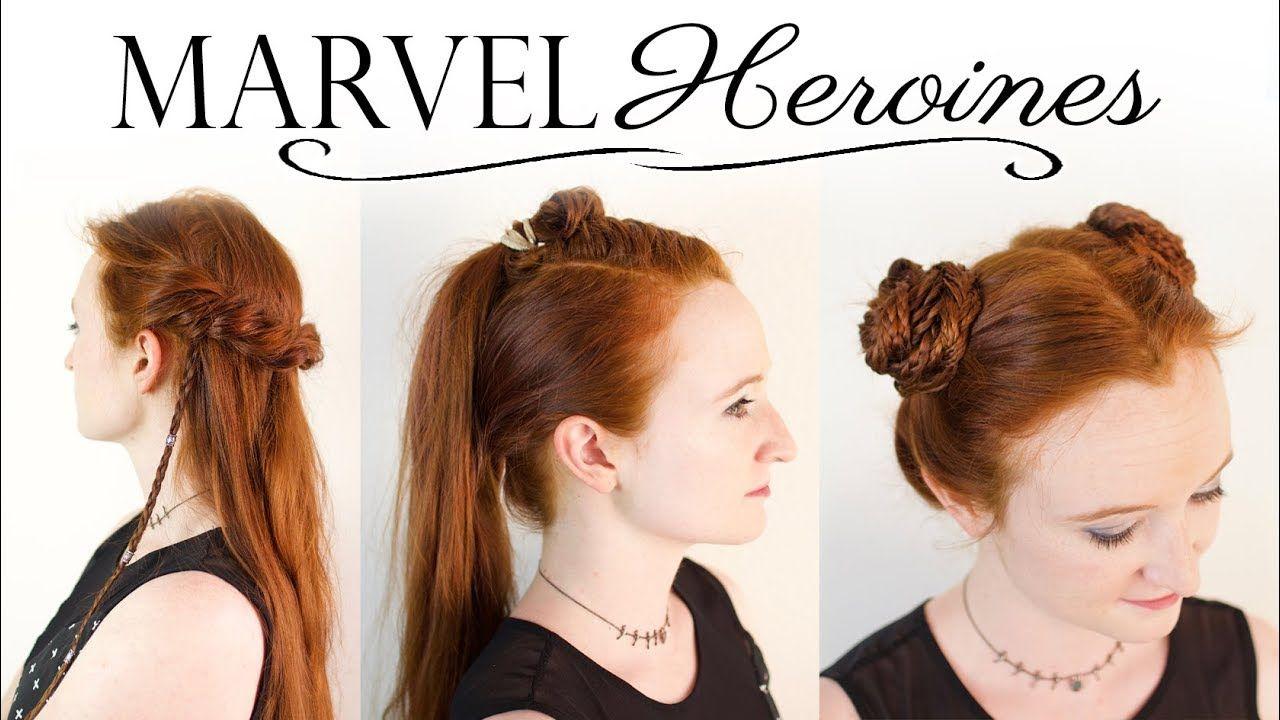 heroines of marvel hair tutorial - gamora, valkyrie, & shuri