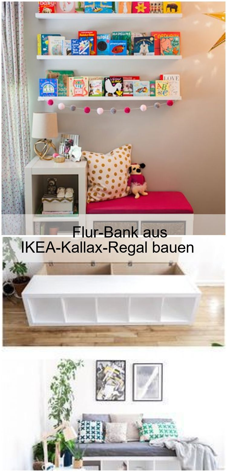 Flurbank Ikea Flur-bank Aus Ikea-kallax-regal Bauen | Home Decor, Furniture, Floating Nightstand