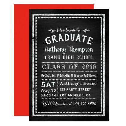 Chalkboard graduation party invitation graduation party chalkboard graduation party invitation graduation party invitations card cards cyo grad celebration stopboris Gallery