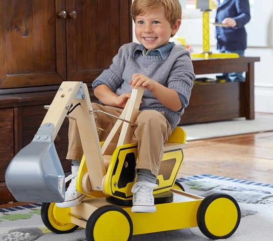 Digger Ride On Pottery Barn Kids Pottery Barn Toys For