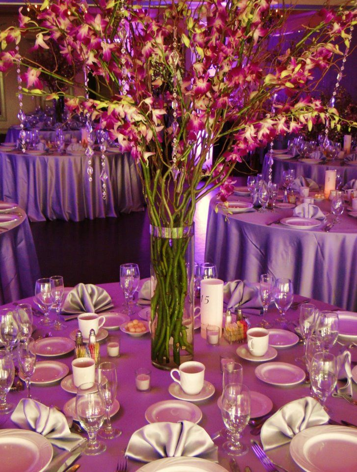 Purple orchid wedding centerpieces imgkid the