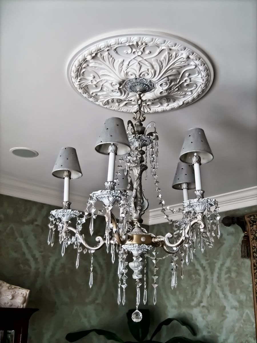 installing a ceiling medallion. A ceiling medallion and ...