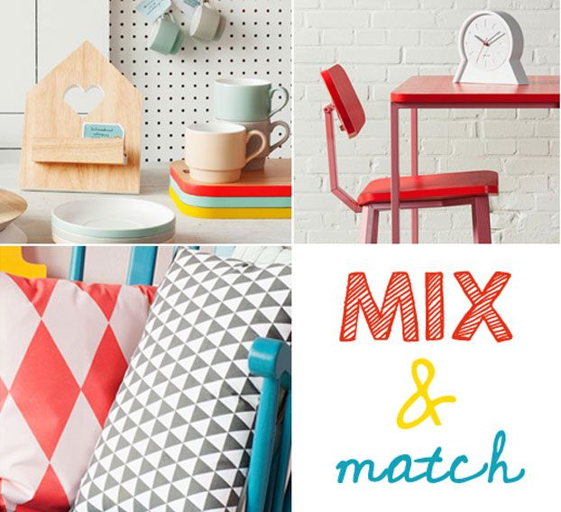 Mix and Match interior inspiration - bright colors and fun patterns