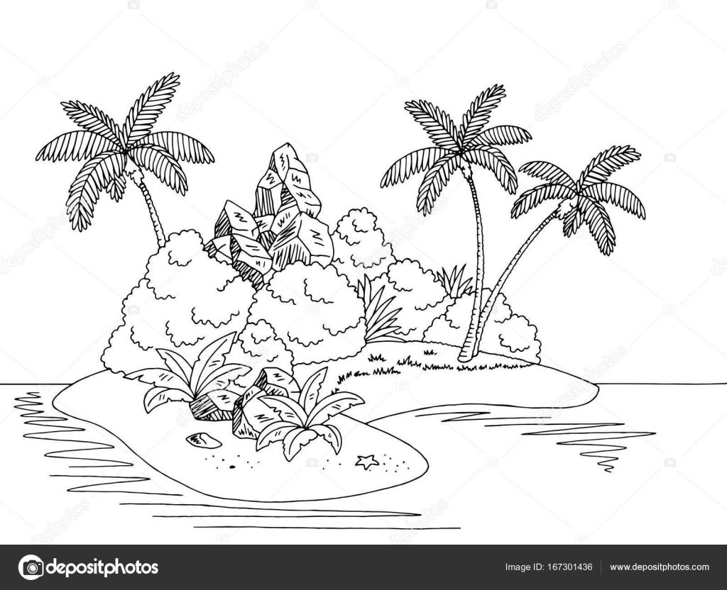 Desenho De Ilha Para Colorir Pesquisa Google Desenho Ilha