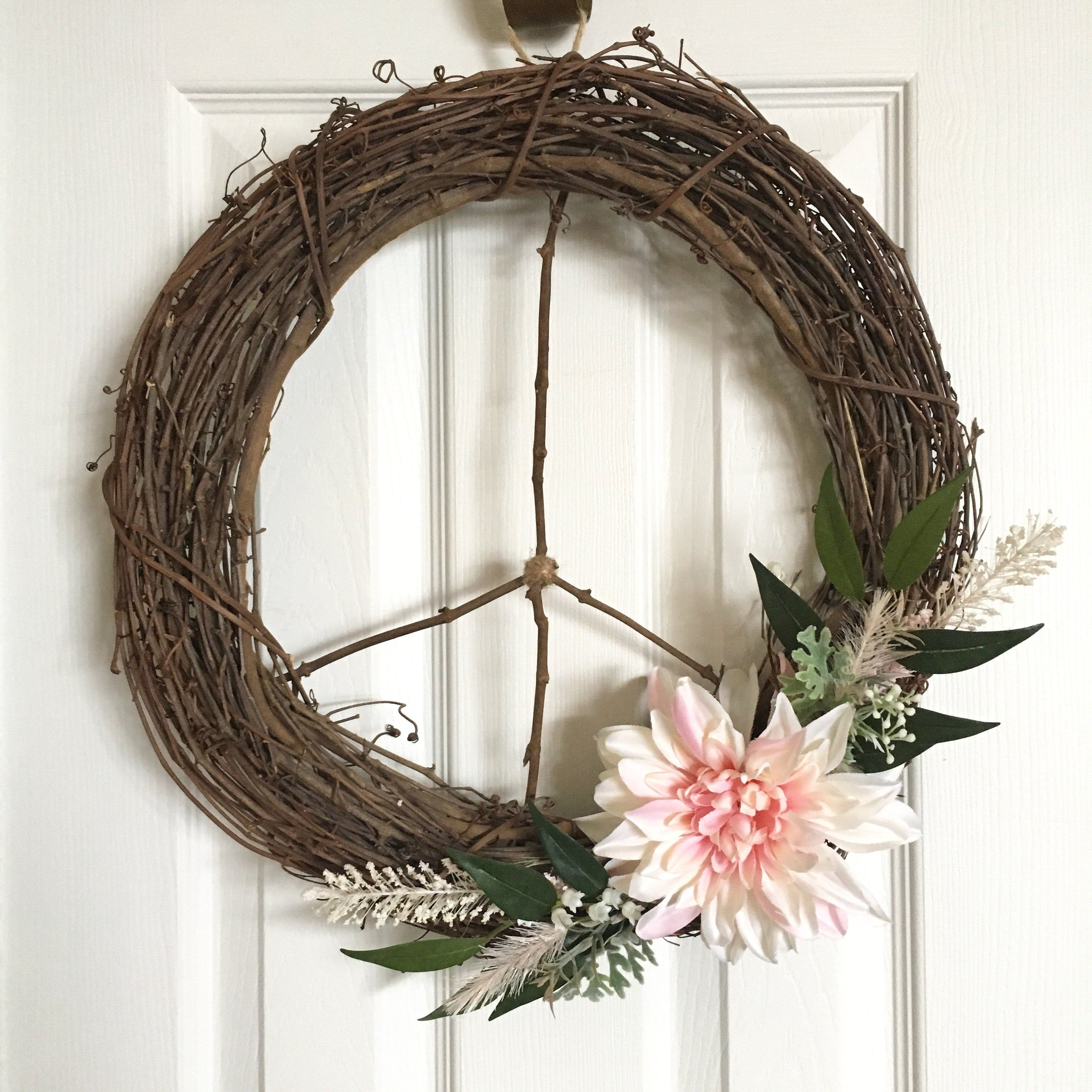 Fall Wreaths For Front Door Peace Sign Wreath Peace Wreath Wreath For Door Fall Wreath Fall Door Wreath Wreaths For Front Do Door Wreaths Fall Fall Wreaths