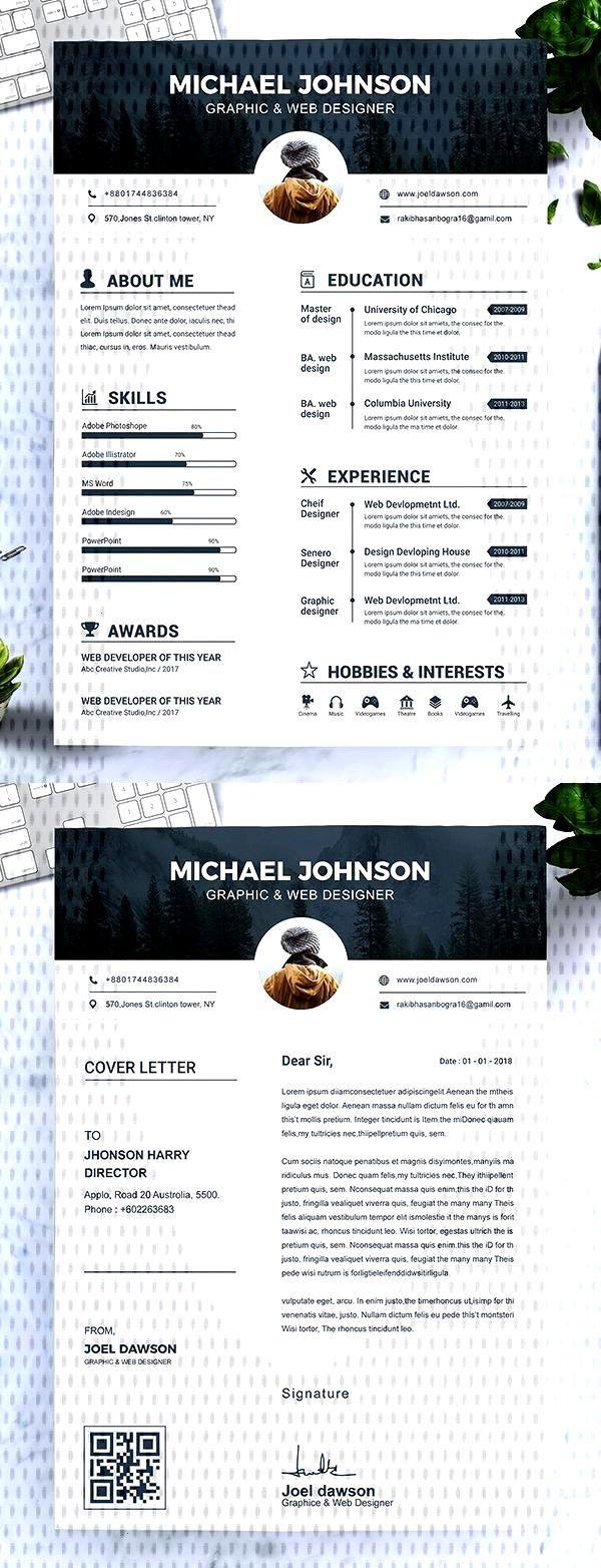 template modern resume cv Modern Resume Template / CV