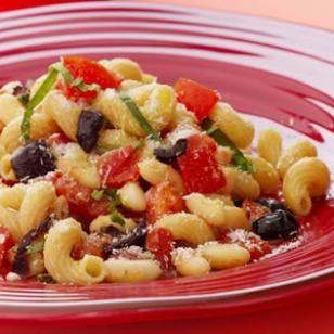 Fresh Pomodoro Pasta, White Beans & Olives Recipe