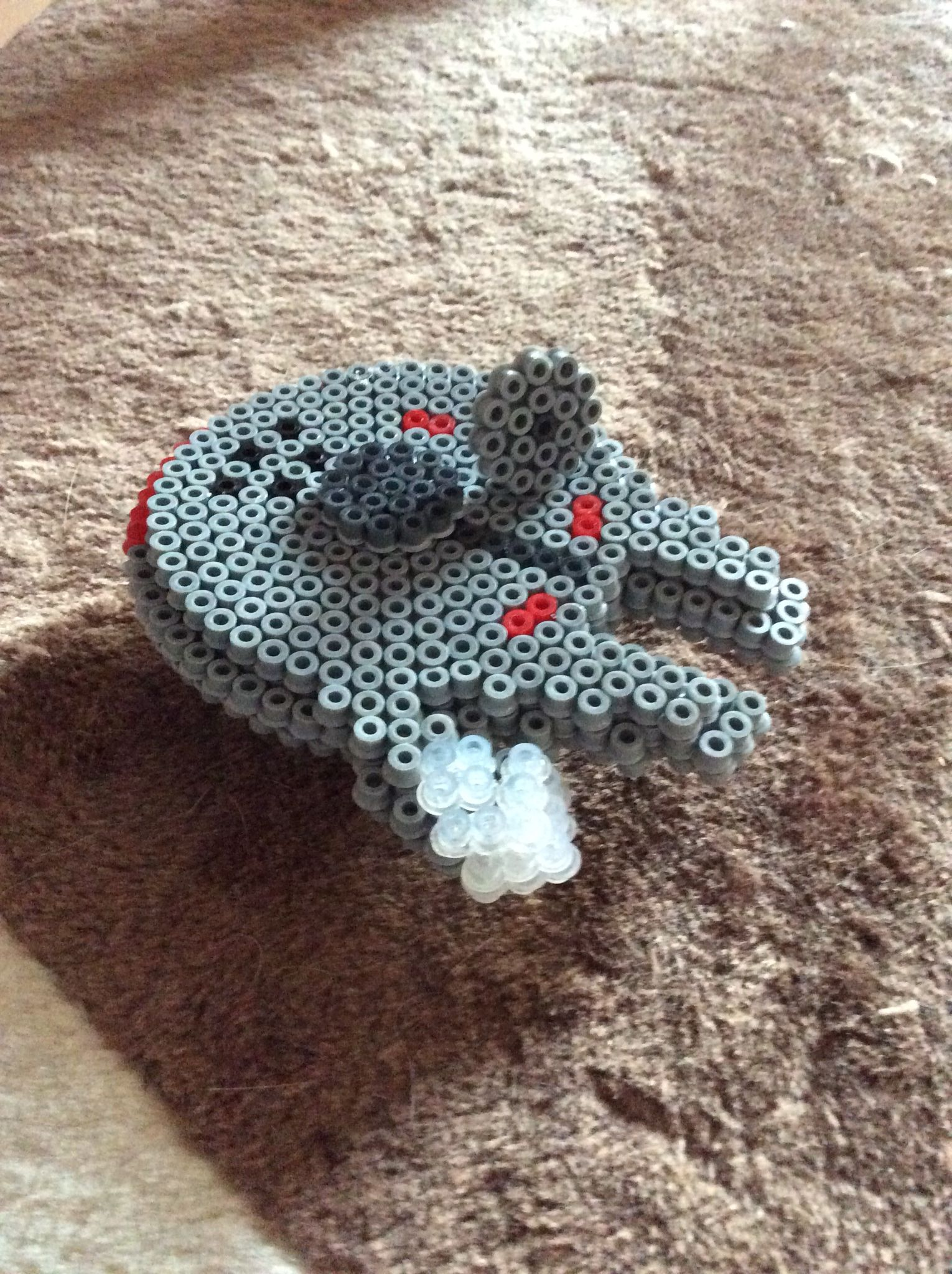 3D Star Wars Millennium Falcon hama beads by Mandy Norman | Hama ...