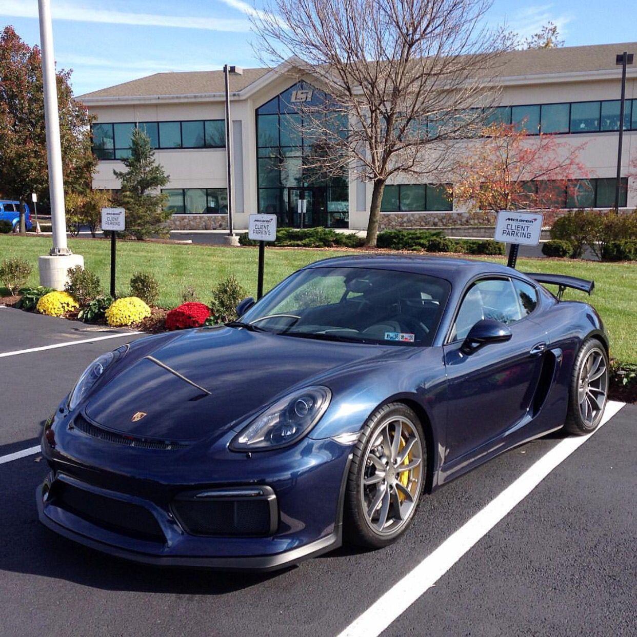 Porsche Cayman GT4 painted in Dark Blue Metallic Photo taken