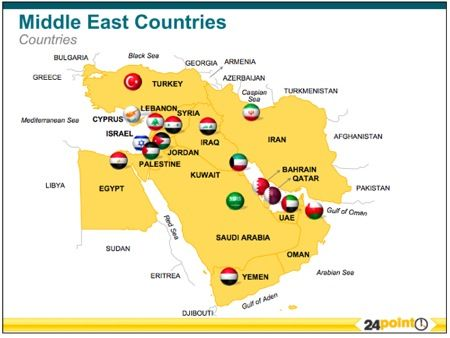 24point0s Middle East Maps Deck for PPT  An Ideal Tool for