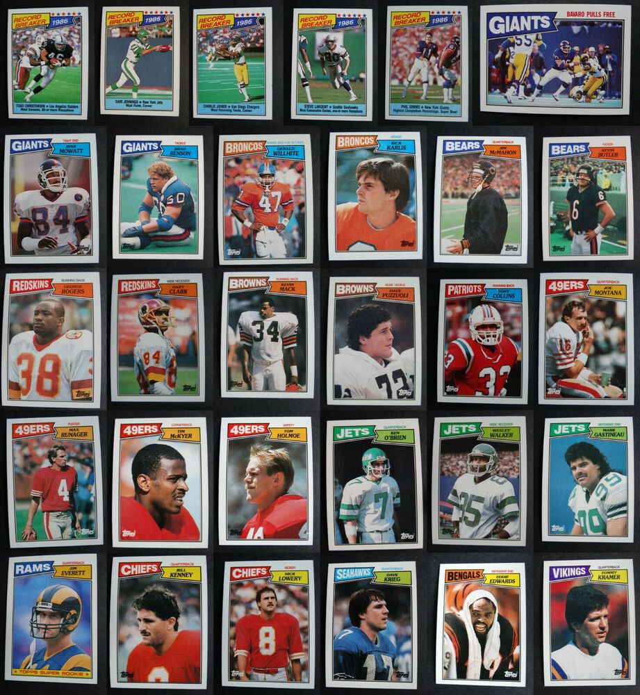 1987 topps football cards complete your set you u pick