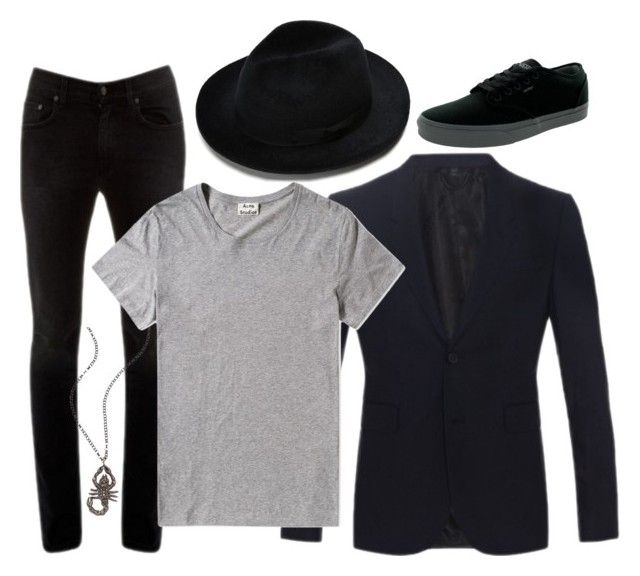 """""""Untitled #1333"""" by sarikide2k15 ❤ liked on Polyvore featuring Burberry, Acne Studios, Vans, Haridra, mens, men, men's wear, mens wear, male and mens clothing"""