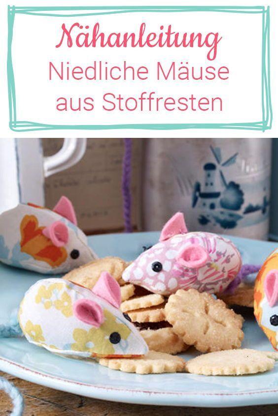 Kuscheltiere selbst nähen: Süße Mäuse aus Stoffresten | Wunderweib
