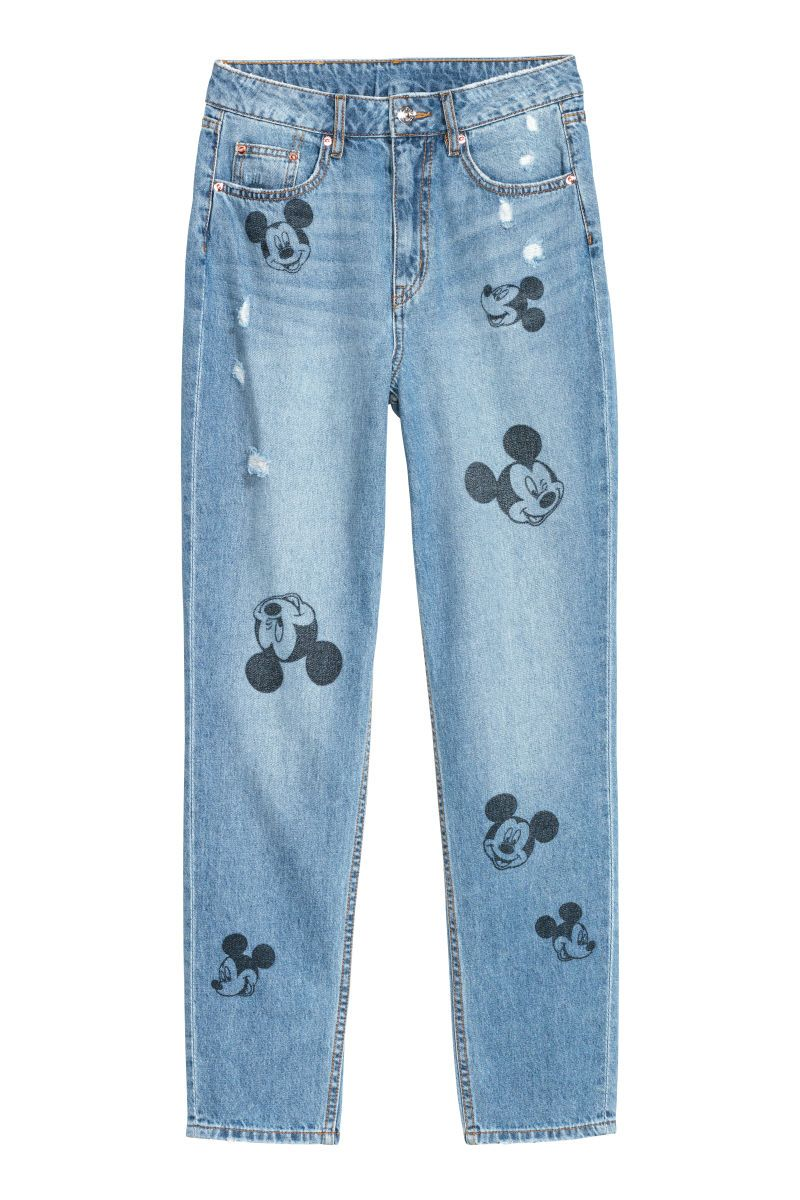 3d964aa660c New H&M Mickey Slim Jeans Are A Fabulous Mix of Denim and Disney ...