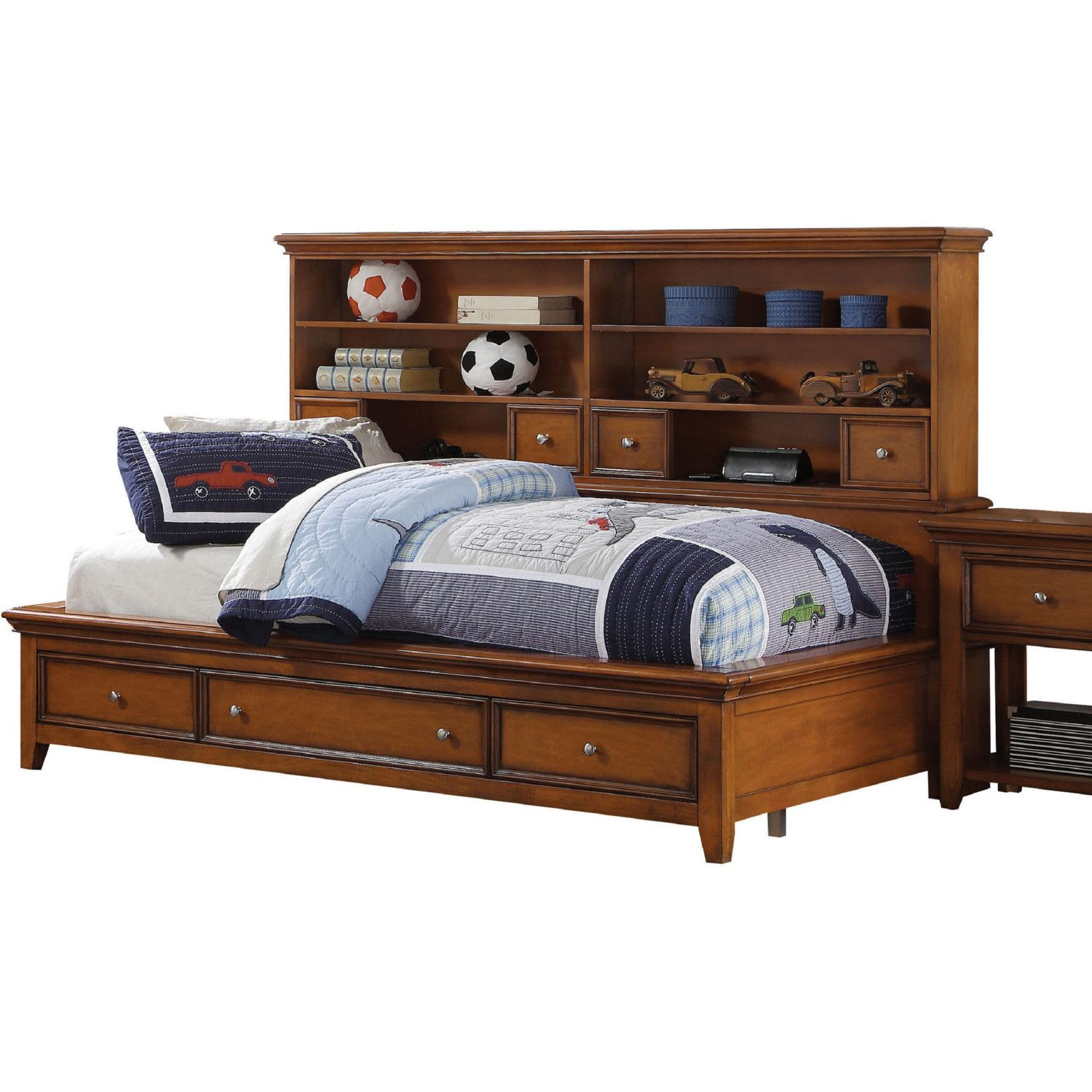 - Acme Lacey Twin Daybed W/ Storage Cherry Oak Daybed With Storage