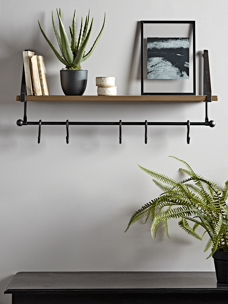 New Antiqued Brass Iron Shelf Iron Shelf Hallway Storage Shelves