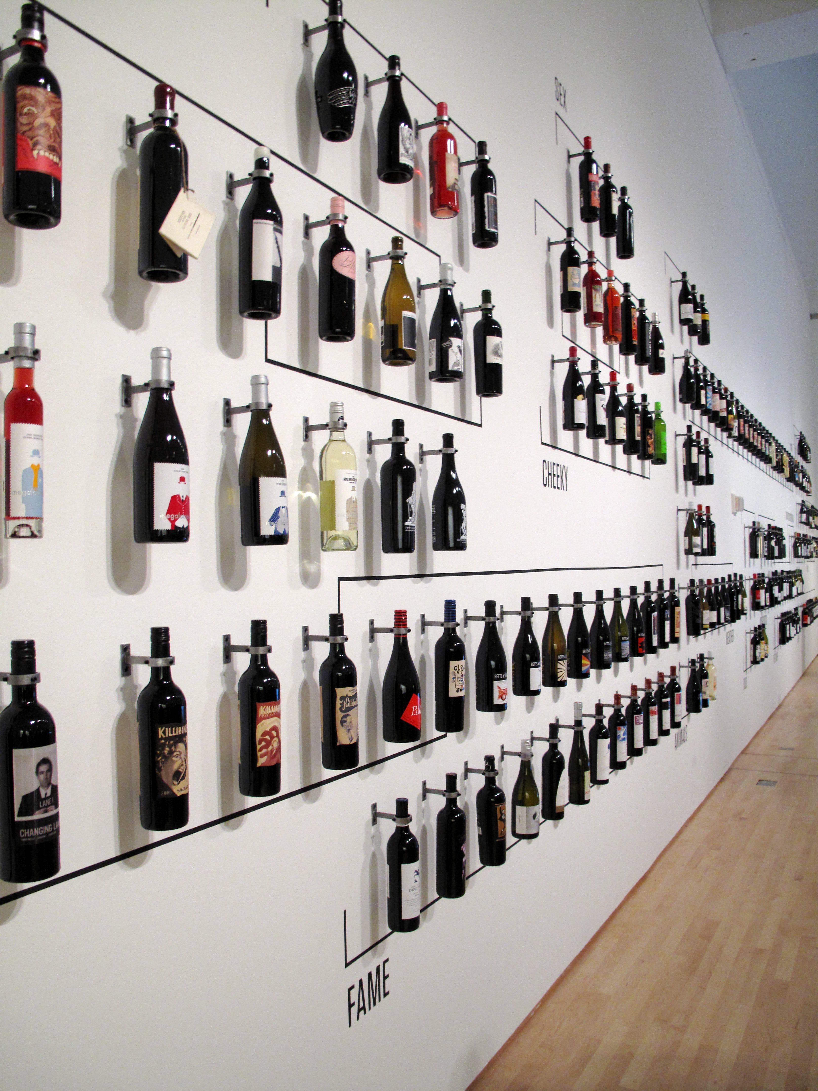 Wall Of Wine Bottles Wine Bottle Wall Wine Shop Interior Wine Bottle Display