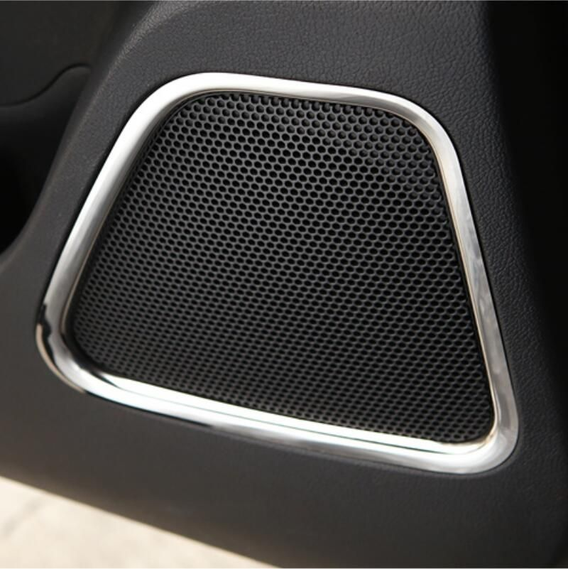 Car Styling Interior Door Panel Speaker Trim Decoration Sticker