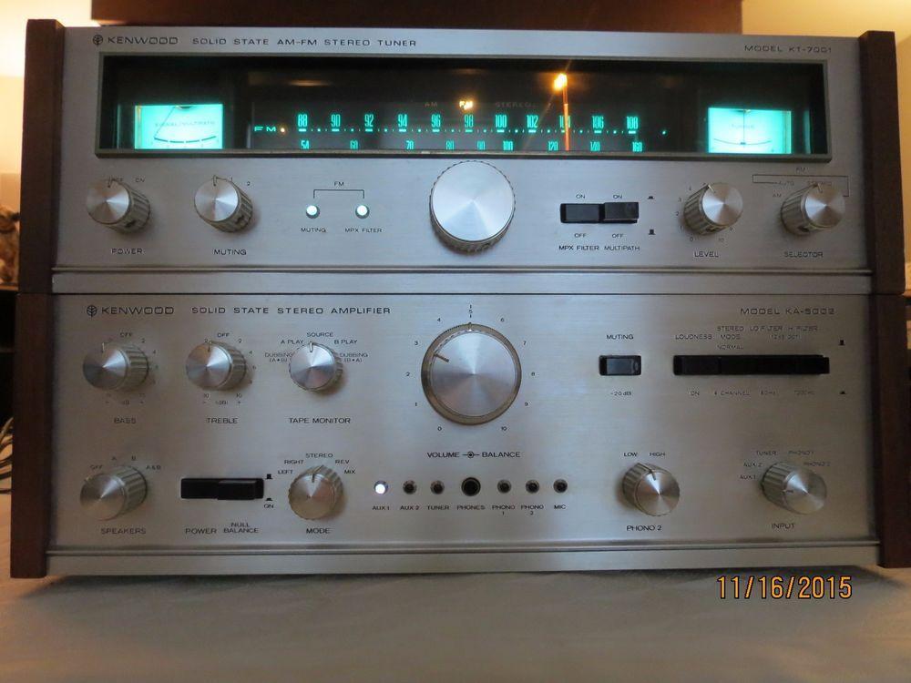 Kenwood Solid State Stereo Amplifier Ka5002 Ka 5002 And Am Fm Tuner Kt 7001 Musica