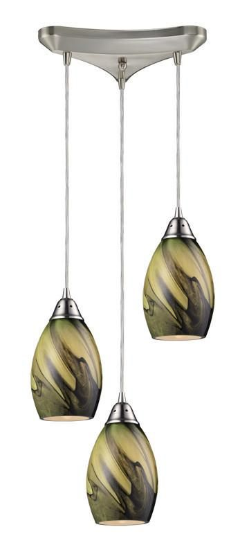 ELK Lighting Formations/Planetary 3- Light Pendant In Satin Nickel - 31133/3PLN
