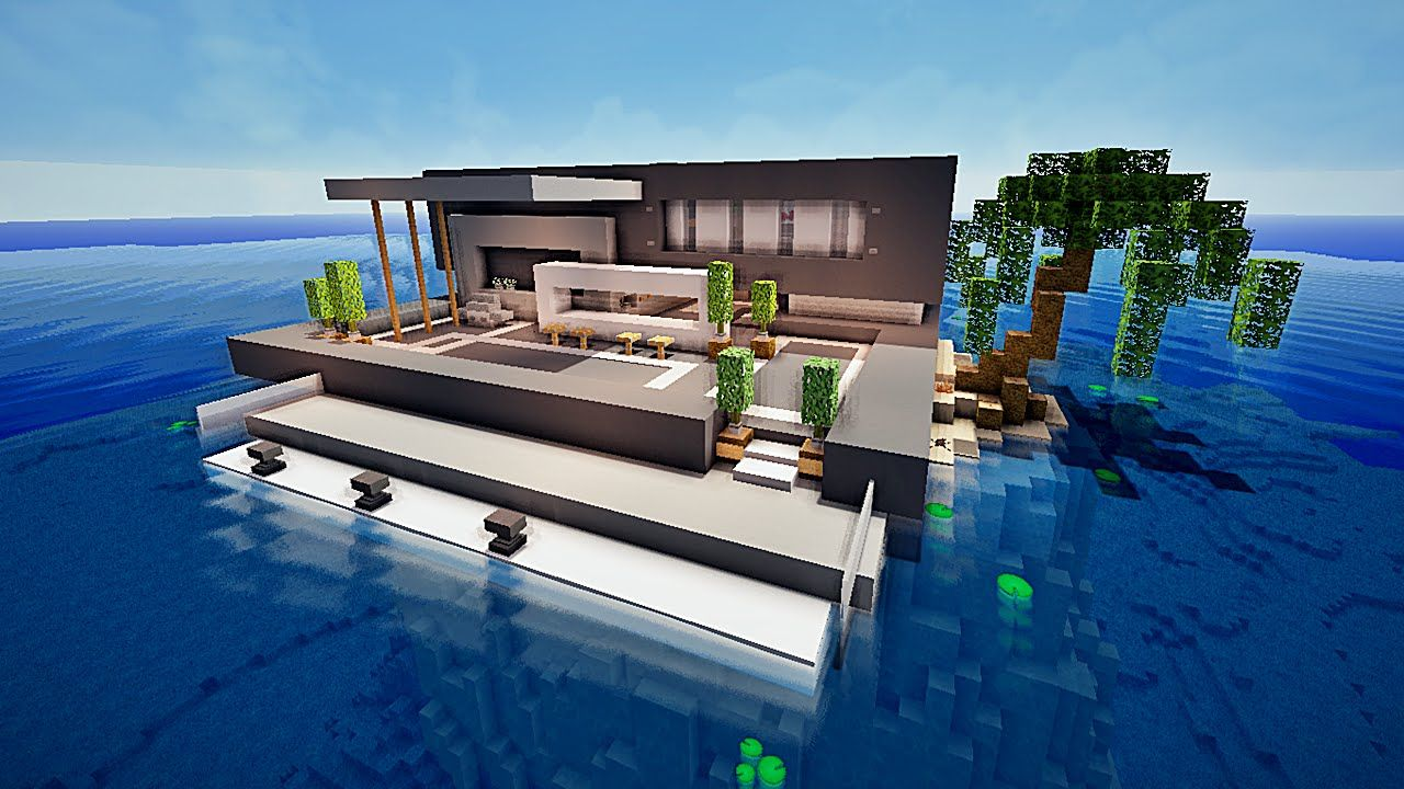 Bon Stunning Maison Moderne De Luxe Avec Piscine Minecraft Contemporary    Awesome Interior Home   Satellite Delight.us