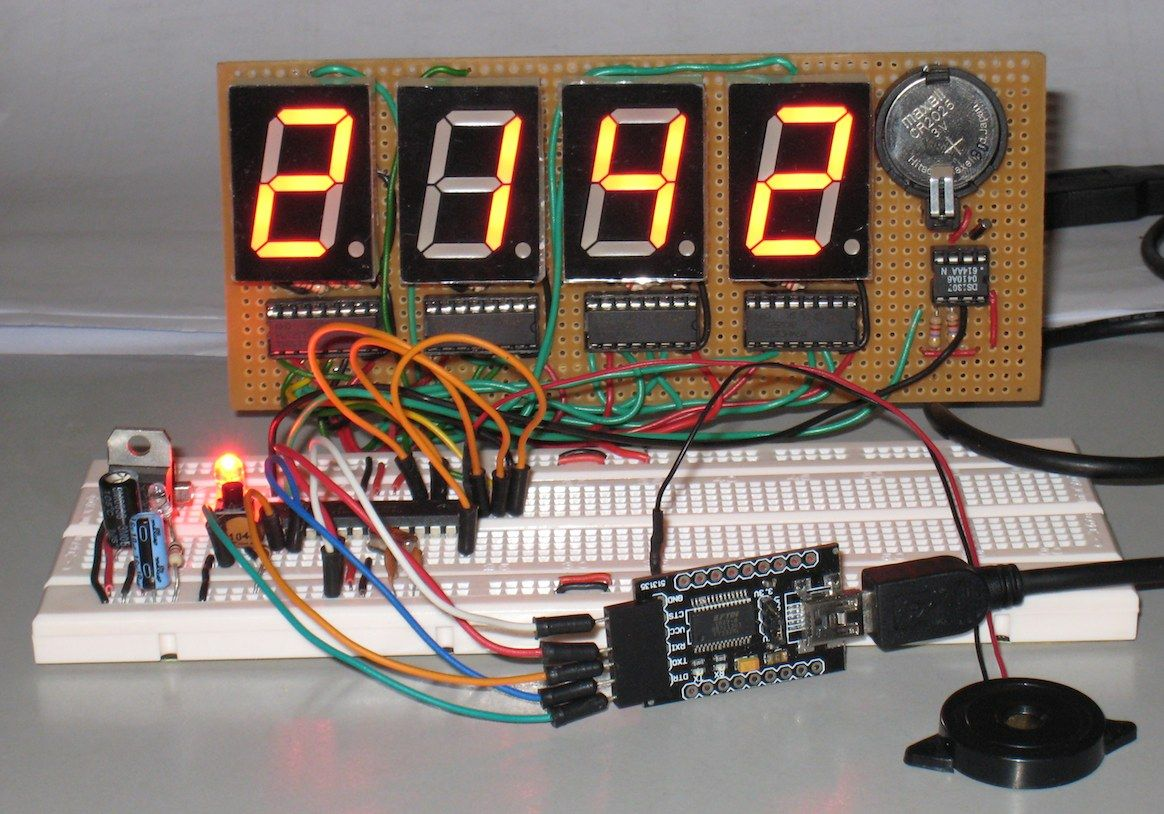 Arduino For Beginners Digital Clock With 7 Segments Led And Rtc Circuit Realtime