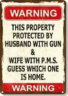 Burglars Please Carry ID Funny Gun Sign - Garage - Humorous - Metal or Plastic