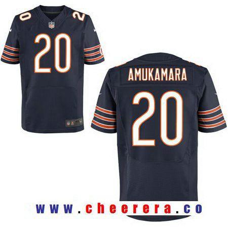 fad9a81e ... Mens Chicago Bears 20 Prince Amukamara Navy Blue Team Color Stitched NFL  Nike Elite Jersey ...