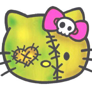 Zombie HK | Hello kitty tattoos, Hello kitty coloring ...
