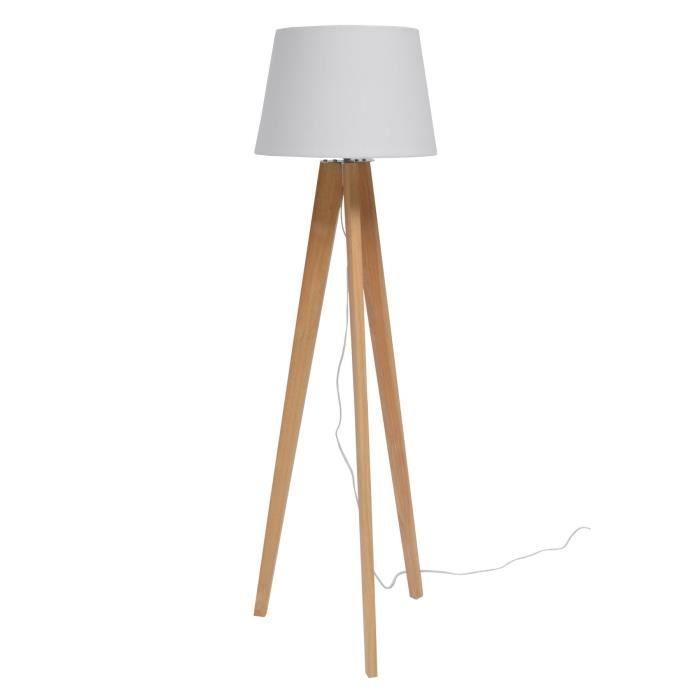 Confection Abat Avec Spectaculaire Pied De Lampe En Bois A Peindre - Peindre Table De Chevet