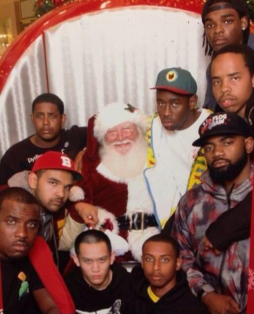 deda19c2033d Santa with C asper Tyler The Creator Earl Sweatshirt ofwgkta wolf gang golf  gang