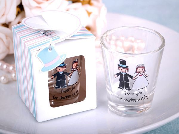 Shot Glasses As Wedding Fabours