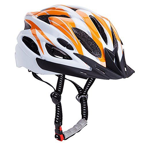 Bormart Adult Cycling Bike Helmet Lightweight Adjustable Bicycle Helmet Specialized For Men Women Mountain Bicycle Road Safety Protection Orange White For Sale Cycling Bikes Mountain Bicycle Bicycle