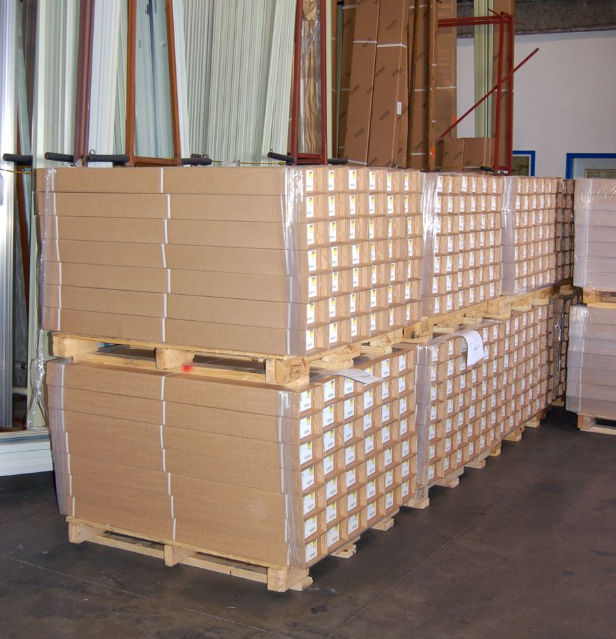 We ship cartons of ThermoFin C, ThinFin C, and ThermoFin U