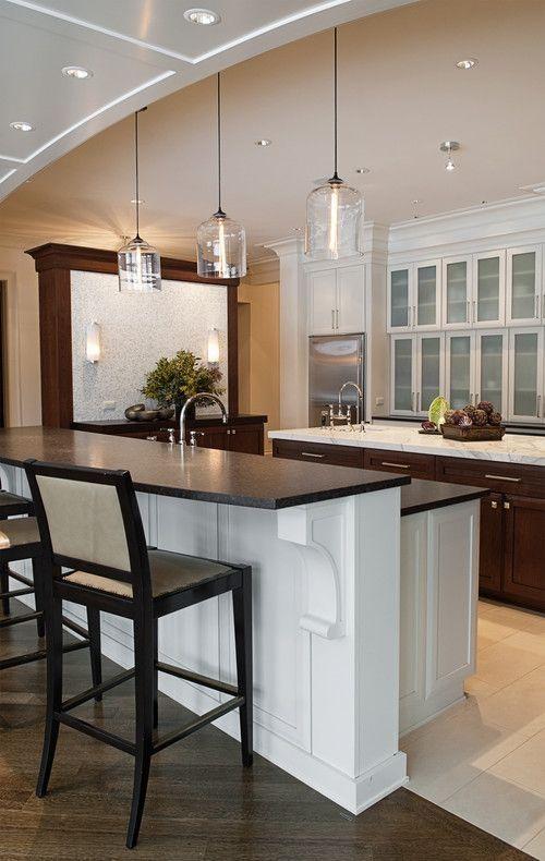 marvelous kitchen island pendant lighting ideas   Flush #Kitchen Island Bulb #Lighting Ideas Glass Shades ...