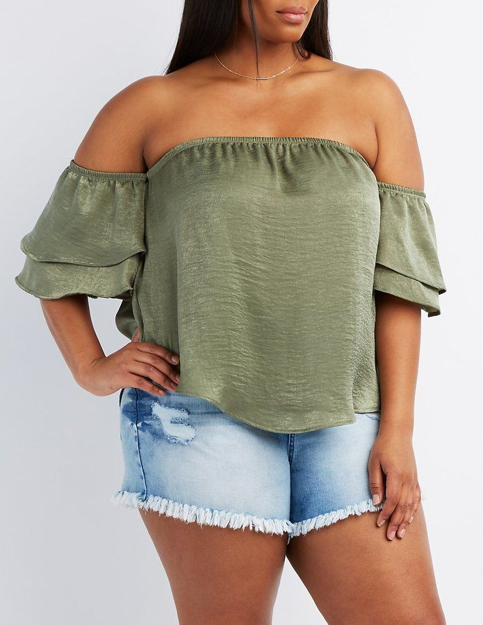 83d8c443c7c281 GET THE LOOK, GREEN and white floral Popover Darling green and white floral  popover top tunic top. Long sleeves, small ruffle detail at cuffs and  collar.