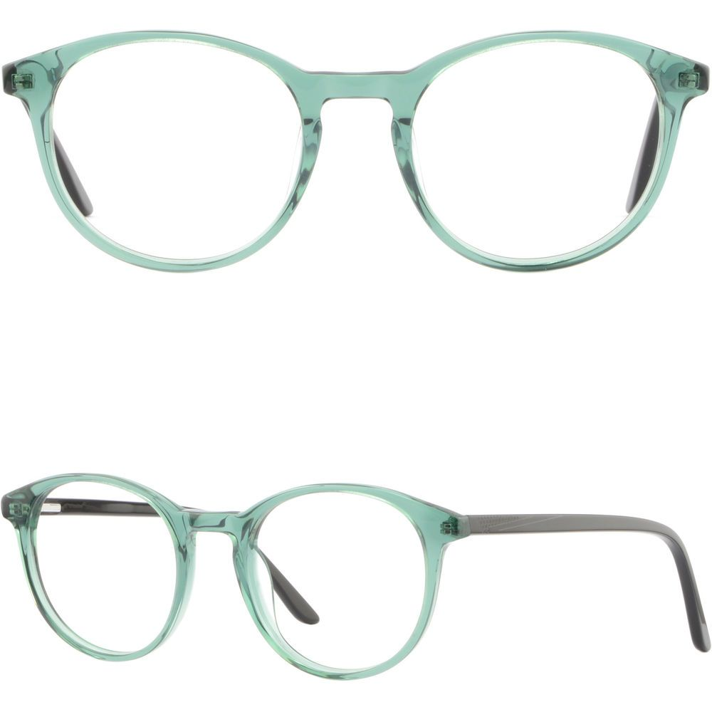 e849d6a4b1 Light Round Womens Acetate Plastic Frames Spring Hinges Glasses Eyeglasses  Green