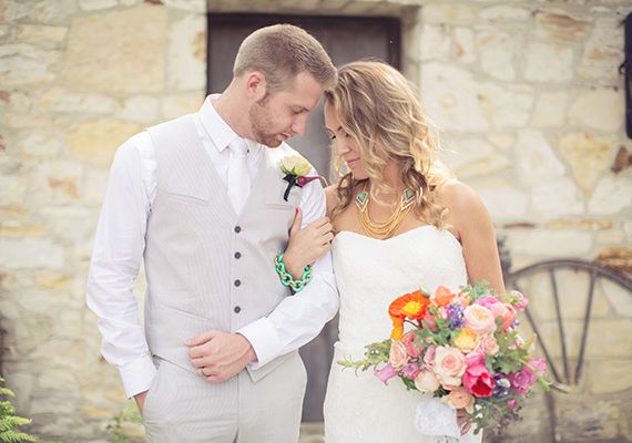 Vibrant spring wedding ideas photo by this love of ours design