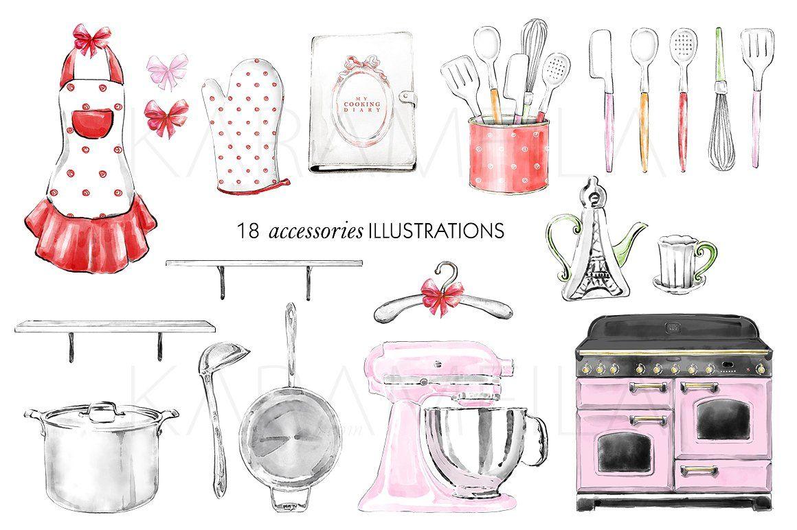 Kitchen Clipart Cooking Girl Clipart Clip Art Kitchen Clipart