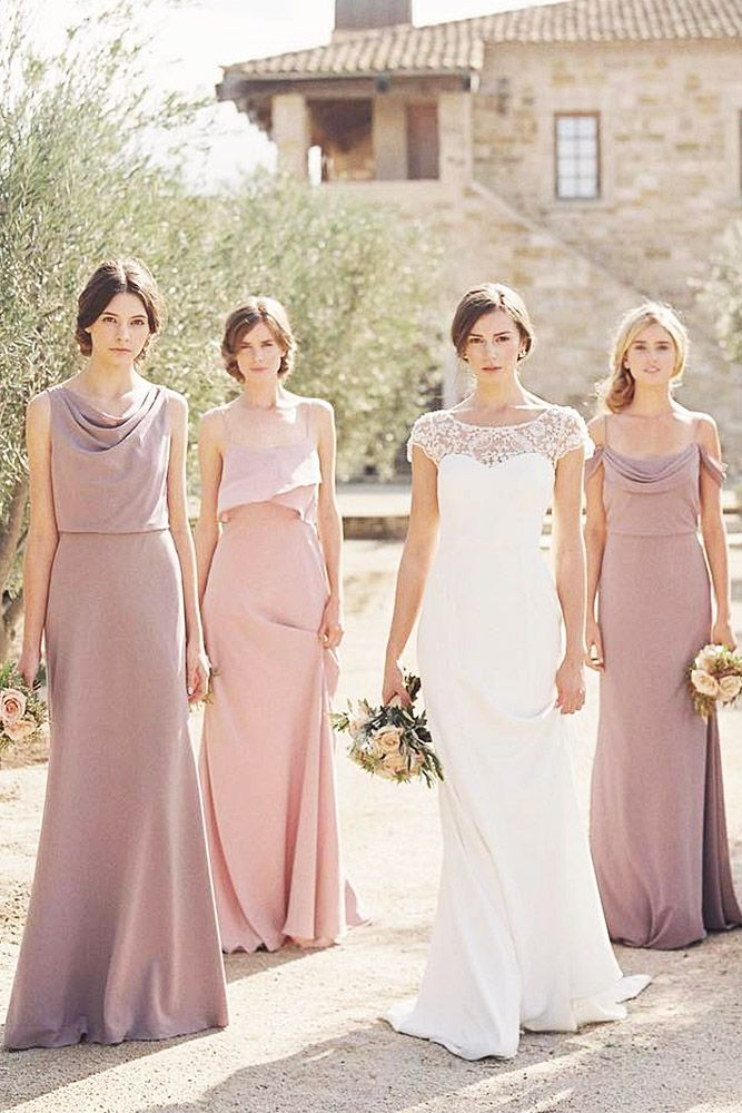 Mismatched Bridesmaid Dresses: 5 Color Ideas | Pinterest