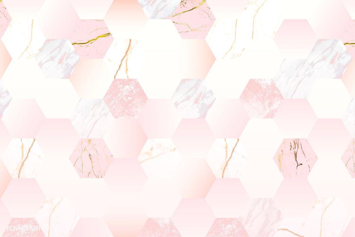 Download Premium Vector Of Pink Feminine Hexagon Geometric Background Geometric Background Geometric Poster Abstract
