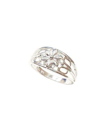 Look what I found on #zulily! Sterling Silver Embossed Floral Ring #zulilyfinds
