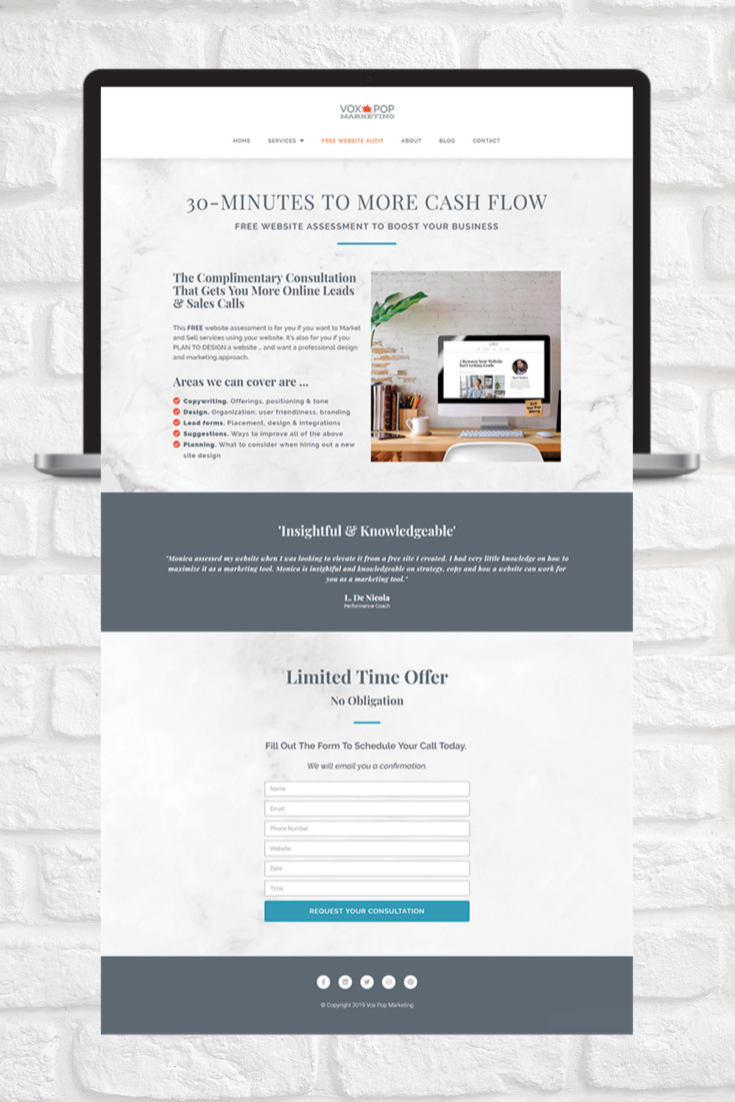 If You Sell Services You Need Landing Pages Here S An Example Of A Landing Page Design You Can Use T Free Website News Website Design Selling Services Online