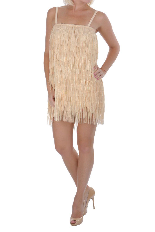 Pin-Up Stars Women Beige Dress