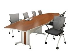 The Mayline Transaction Series Conference Room Furniture Series Boasts Technology Intensive Boa Boardroom Table Design Conference Table Modern Conference Table