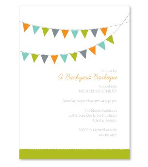 Backyard Party Invitations